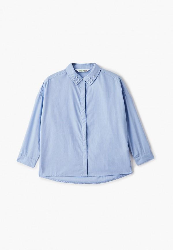 Рубашка для девочки Sela цвет голубой