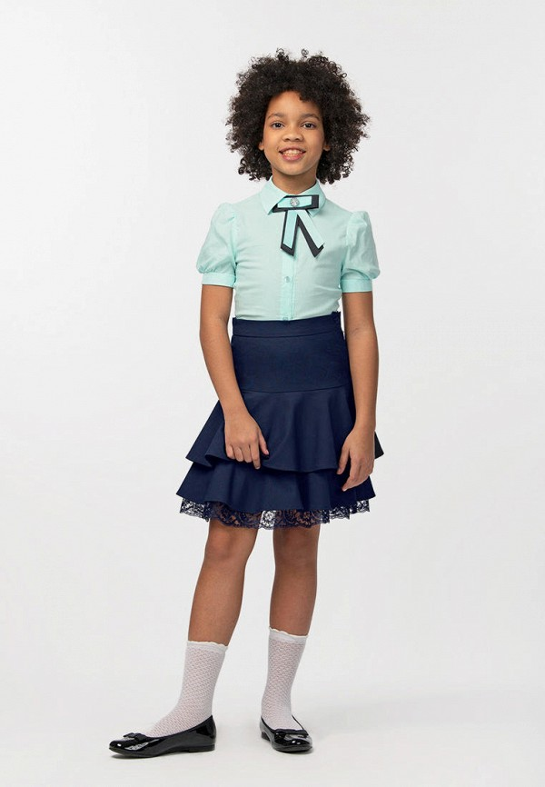 Юбка для девочки Smena цвет синий  Фото 4