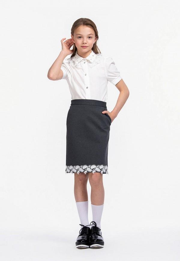 Юбка для девочки Smena цвет серый  Фото 4
