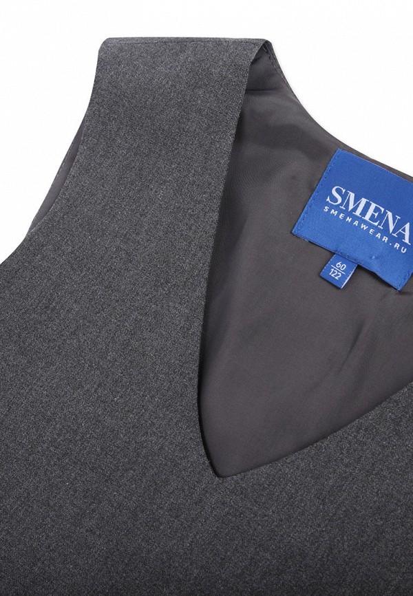 Платья для девочки Smena цвет серый  Фото 3