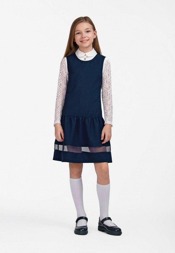 Платья для девочки Smena цвет синий  Фото 4