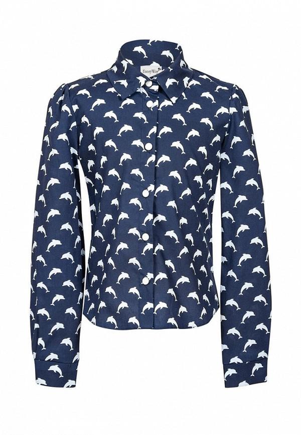 рубашка fansyway для девочки, синяя