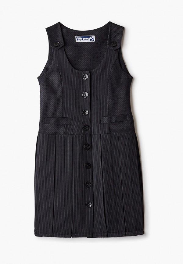 повседневные платье sky lake для девочки, черное