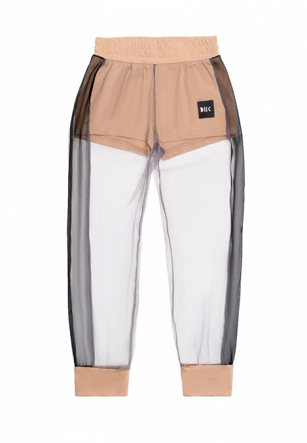 спортивные брюки dnk для девочки, бежевые