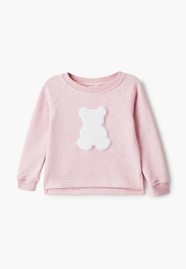 свитшот lacitta для девочки, розовый