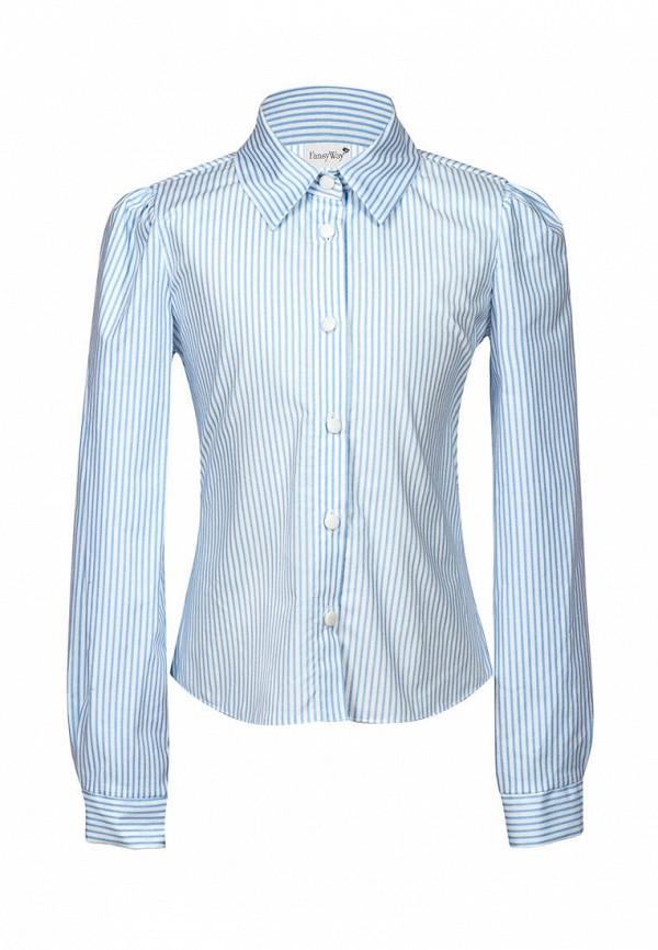 рубашка fansyway для девочки, голубая