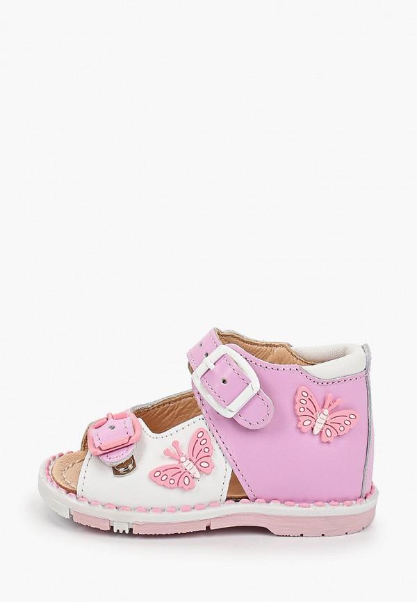 сандалии таши орто для девочки, розовые