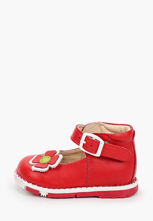 туфли таши орто для девочки, красные