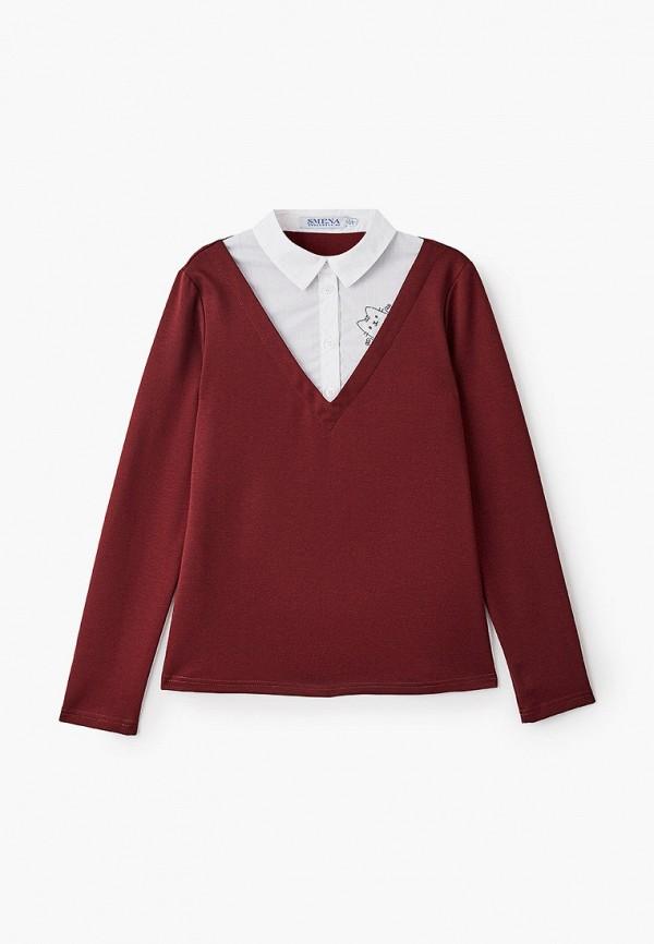 Пуловер Smena Smena  бордовый фото