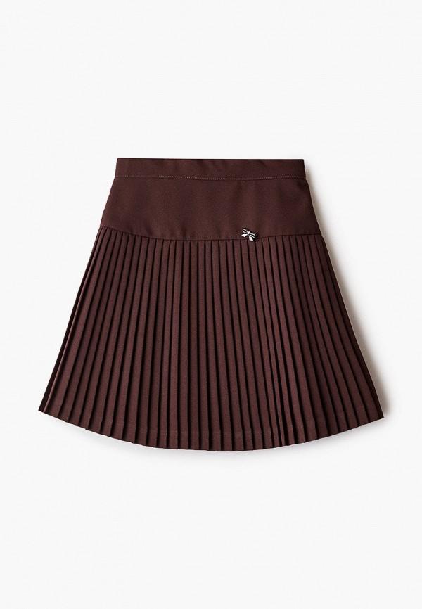 юбка smena для девочки, коричневая