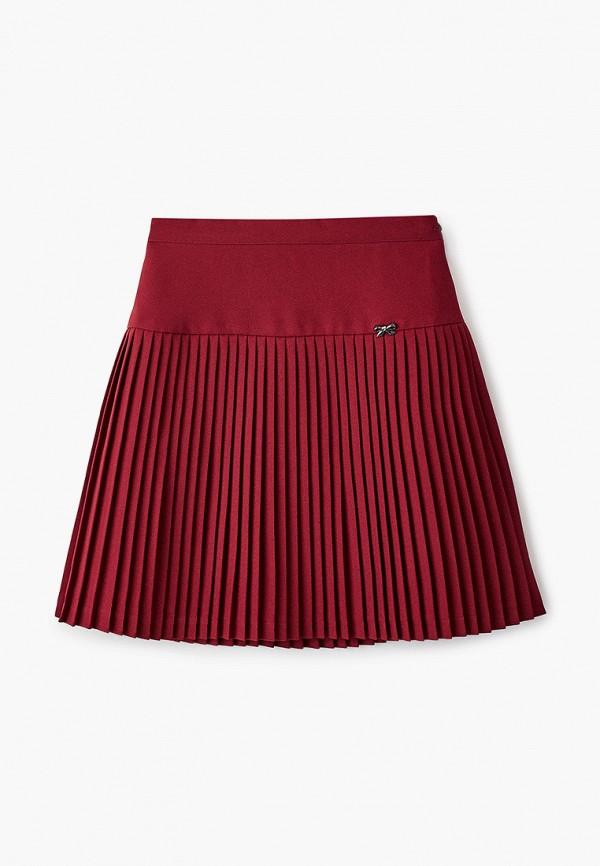 юбка smena для девочки, бордовая