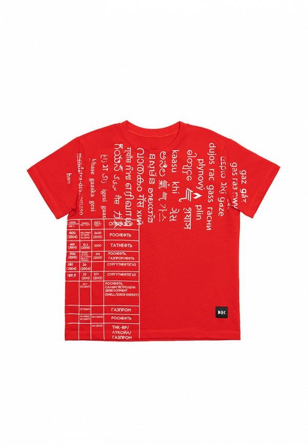 футболка с коротким рукавом dnk code для девочки, красная