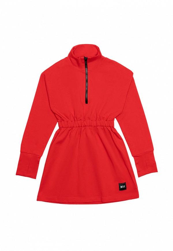 повседневные платье dnk для девочки, красное