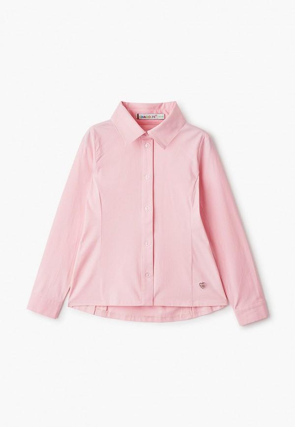 рубашка chadolini для девочки, розовая