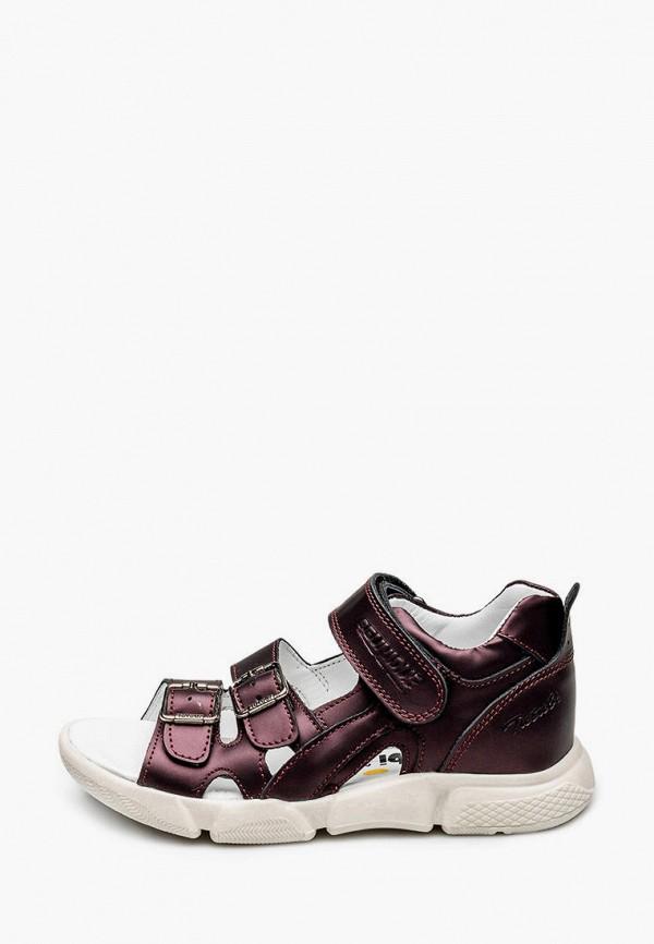 сандалии tutubi для девочки, бордовые