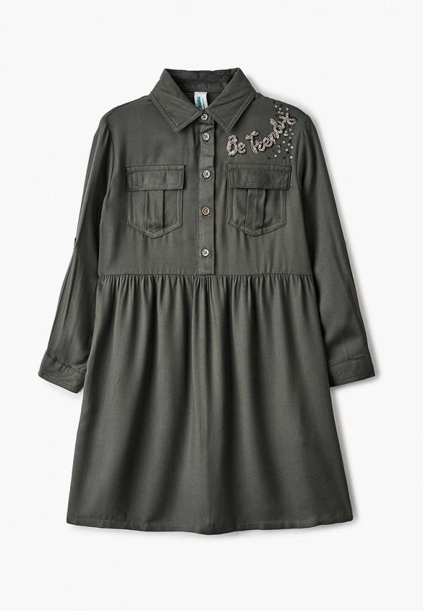 повседневные платье acoola для девочки, хаки
