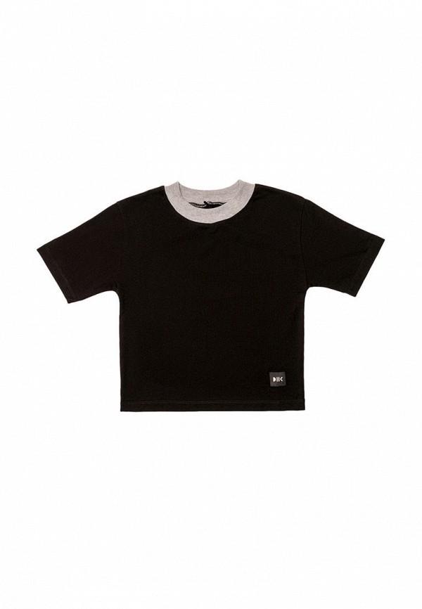 футболка с коротким рукавом dnk для девочки, черная