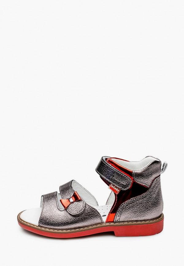 сандалии tutubi для девочки, серебряные