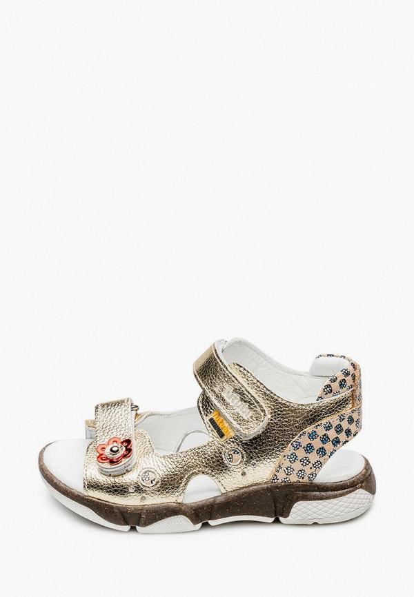 сандалии tutubi для девочки, золотые