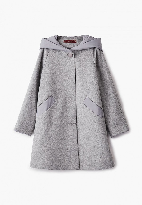 Пальто Mamma Mila! Mamma Mila!  серый фото