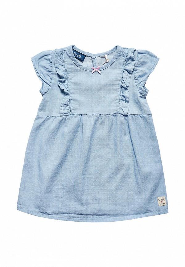 повседневные платье sanetta для девочки, голубое