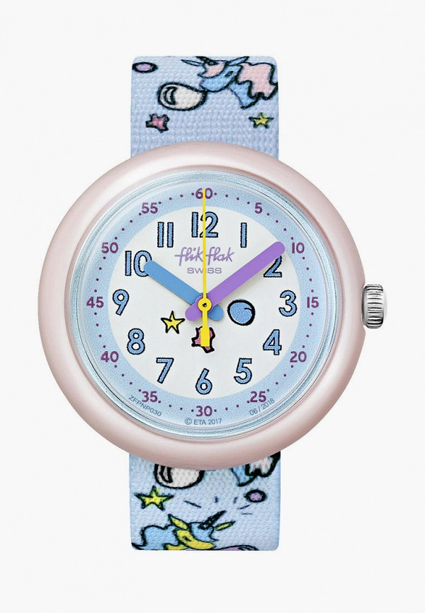 часы flik flak для девочки, голубые