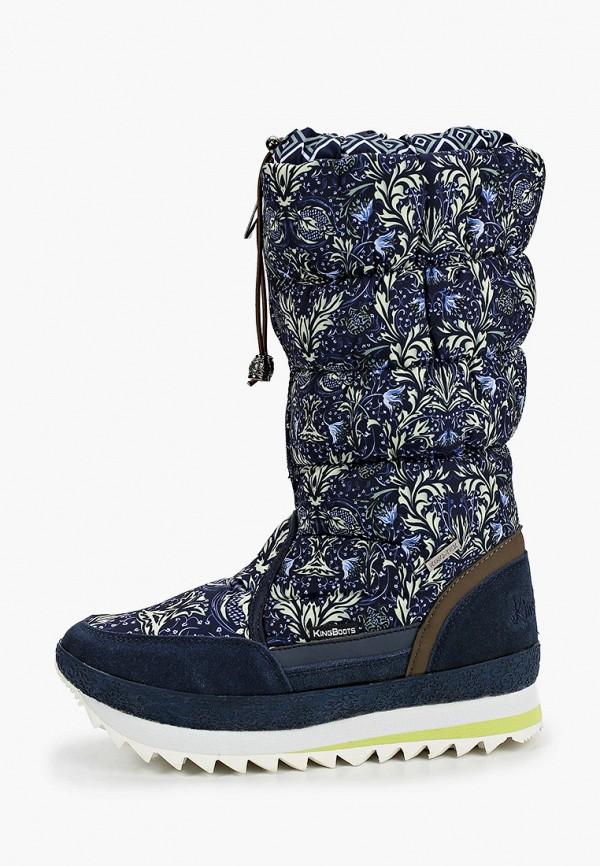 дутики king boots для девочки, синие