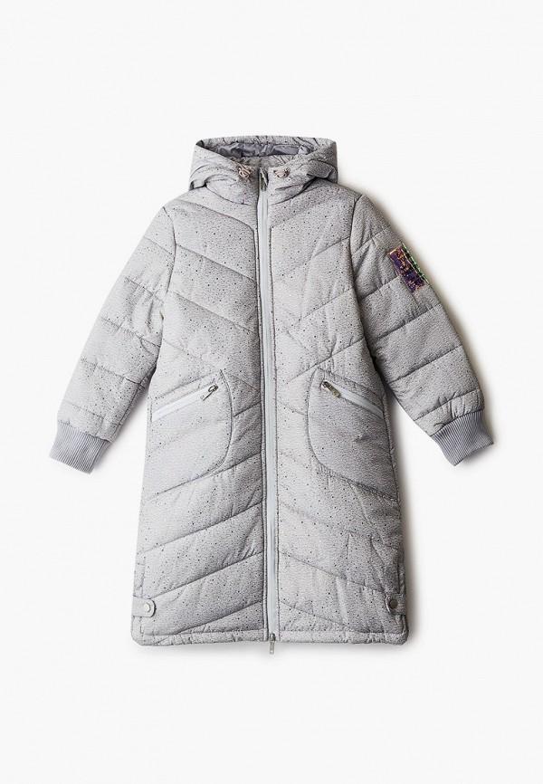 утепленные куртка acoola для девочки, серая