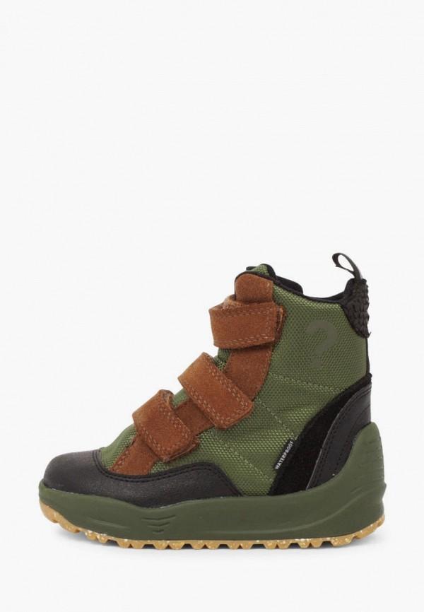 ботинки woden для девочки, зеленые