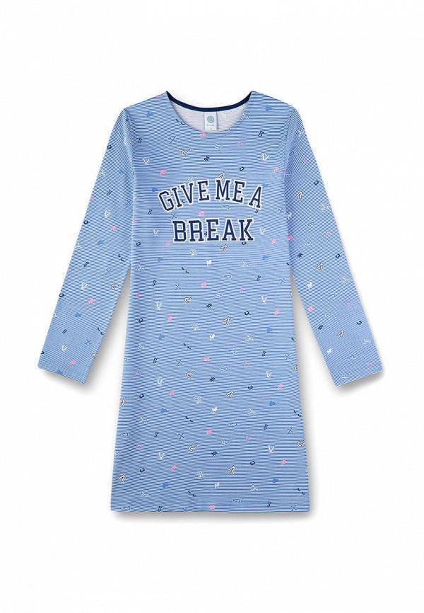 платье sanetta для девочки, голубое