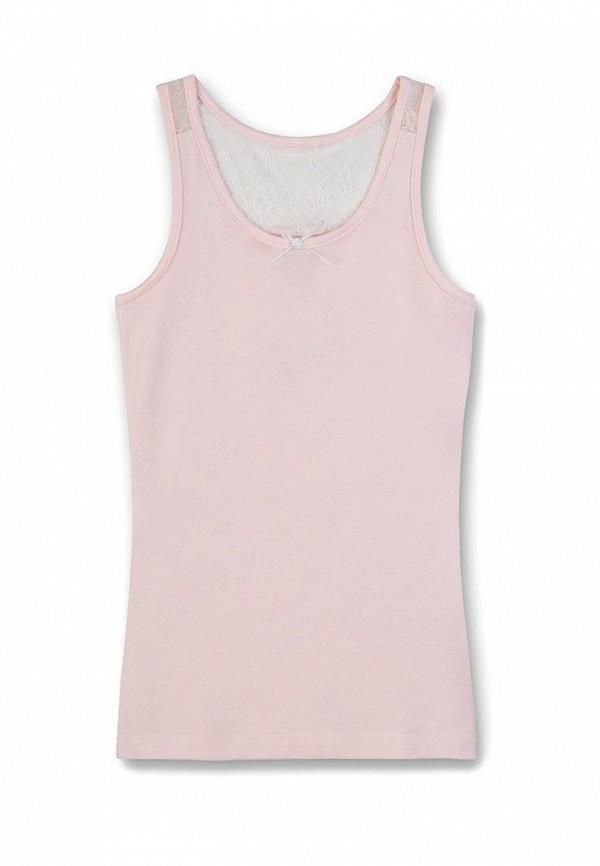 майка sanetta для девочки, розовая