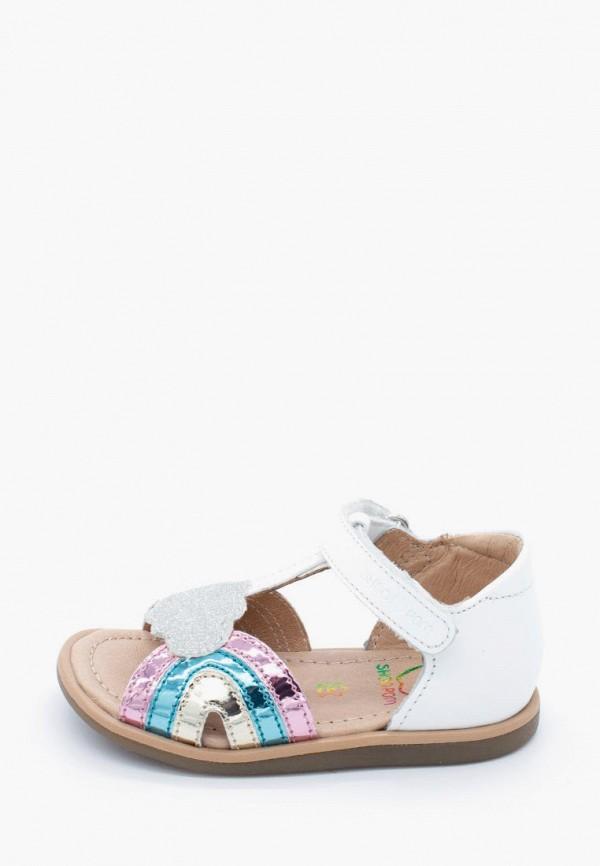 сандалии pom d'api для девочки, белые