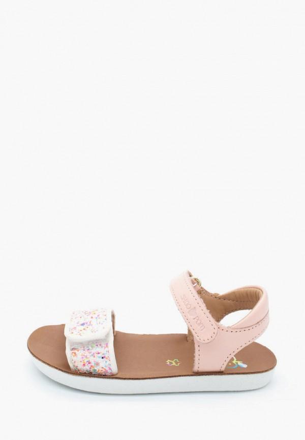 сандалии pom d'api для девочки, розовые