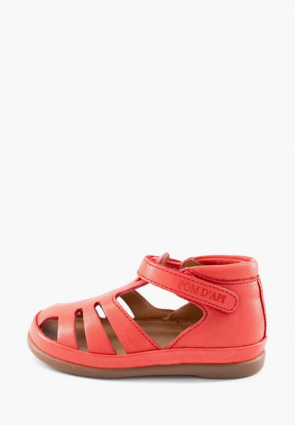 сандалии pom d'api для девочки, красные