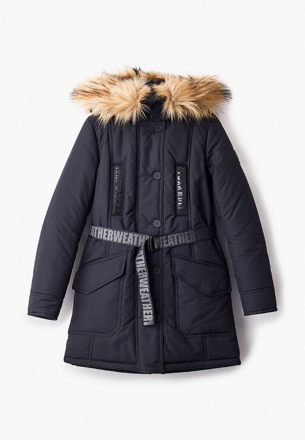 утепленные куртка артус для девочки, черная