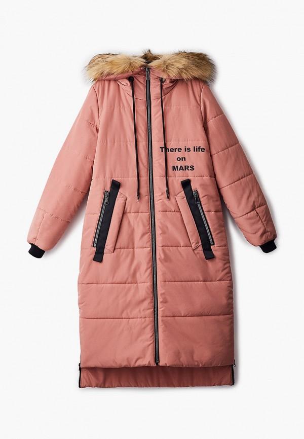 утепленные куртка артус для девочки, розовая