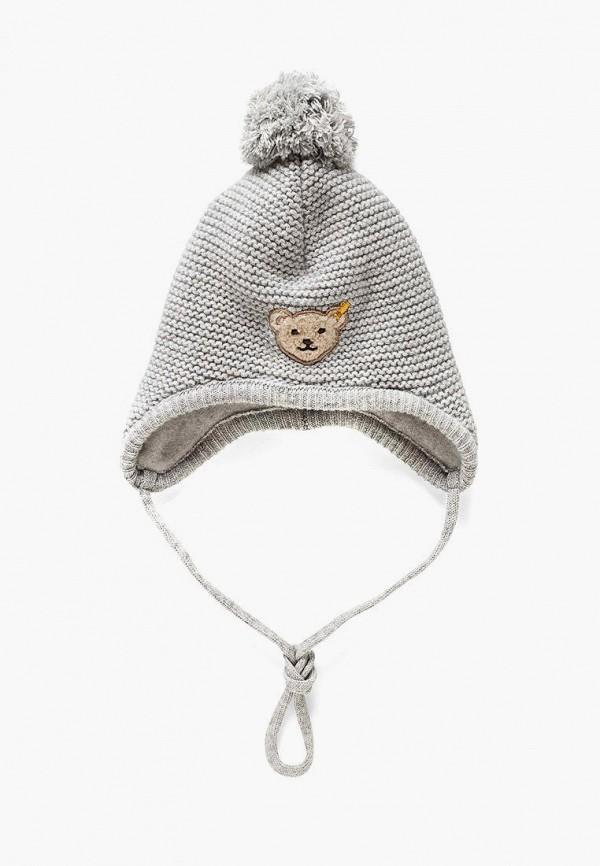 шапка steiff для девочки, серая