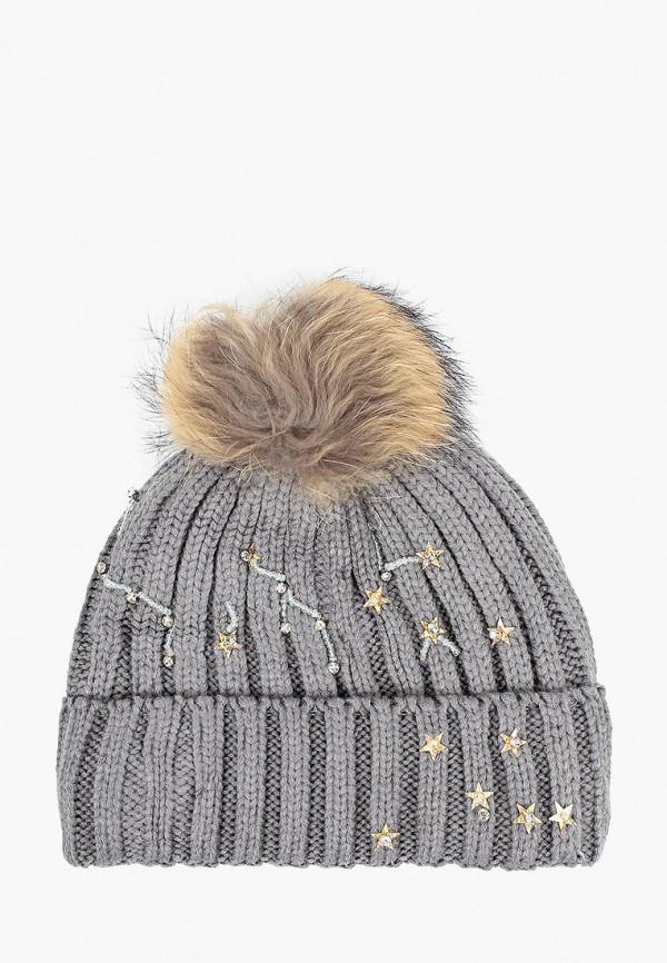 шапка fobs для девочки, серая