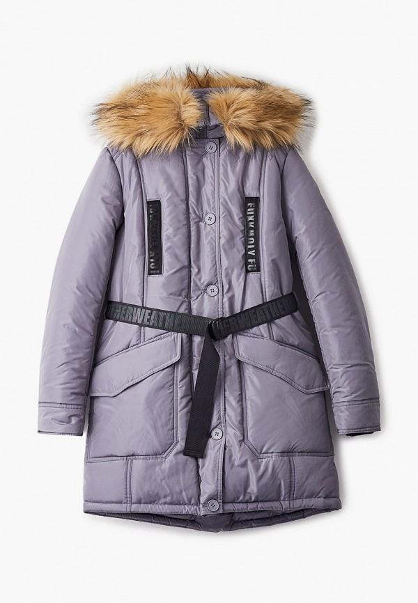 утепленные куртка артус для девочки, серая