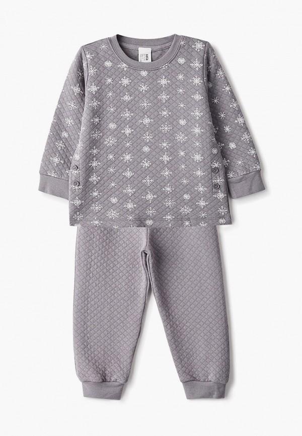 пижама sela для девочки, серая