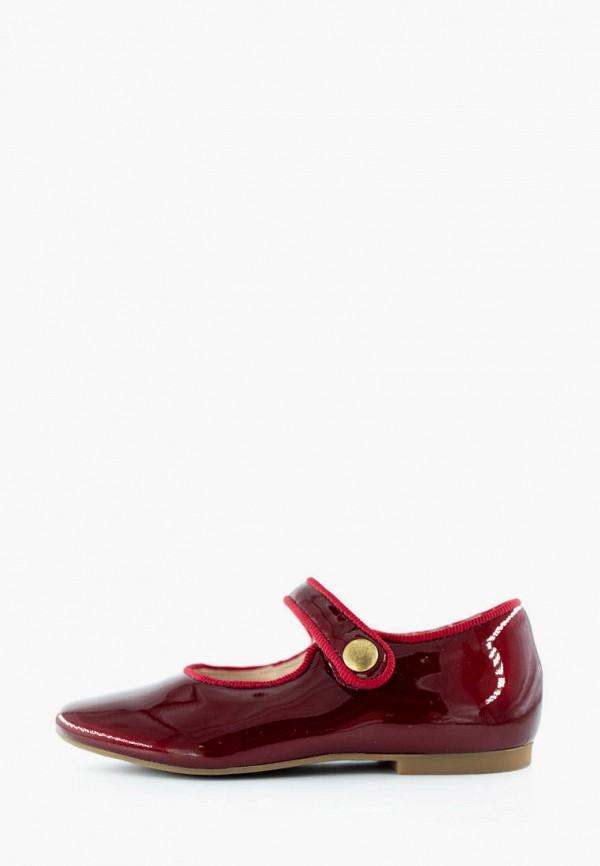 туфли pom d'api для девочки, бордовые