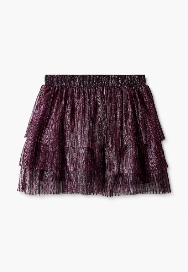 юбка sela для девочки, фиолетовая