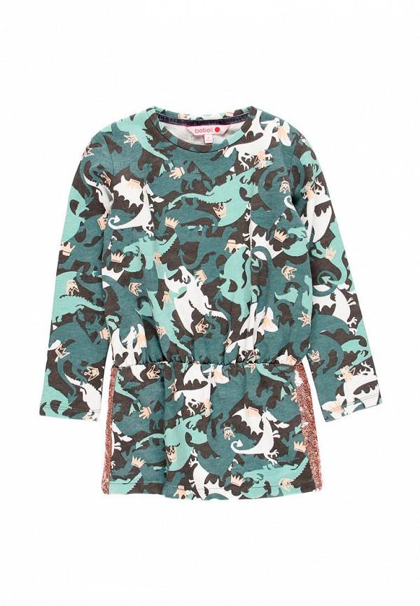 повседневные платье boboli для девочки, бирюзовое