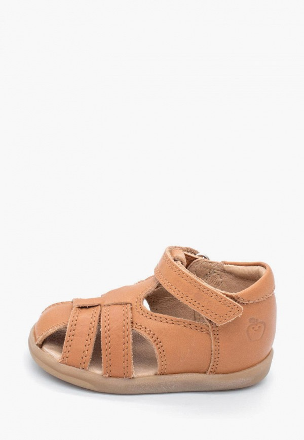 сандалии pom d'api для девочки, коричневые
