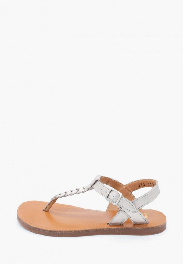 сандалии pom d'api для девочки, серебряные