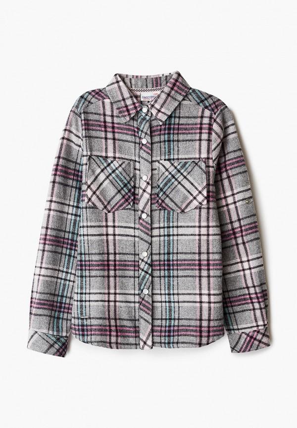 рубашка coccodrillo для девочки, серая