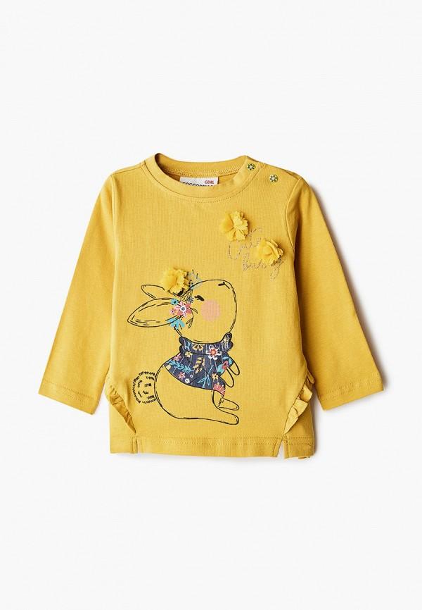 лонгслив coccodrillo для девочки, желтый