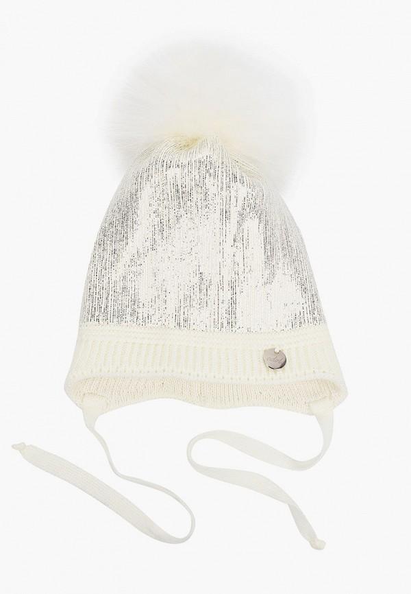 шапка coccodrillo для девочки, бежевая