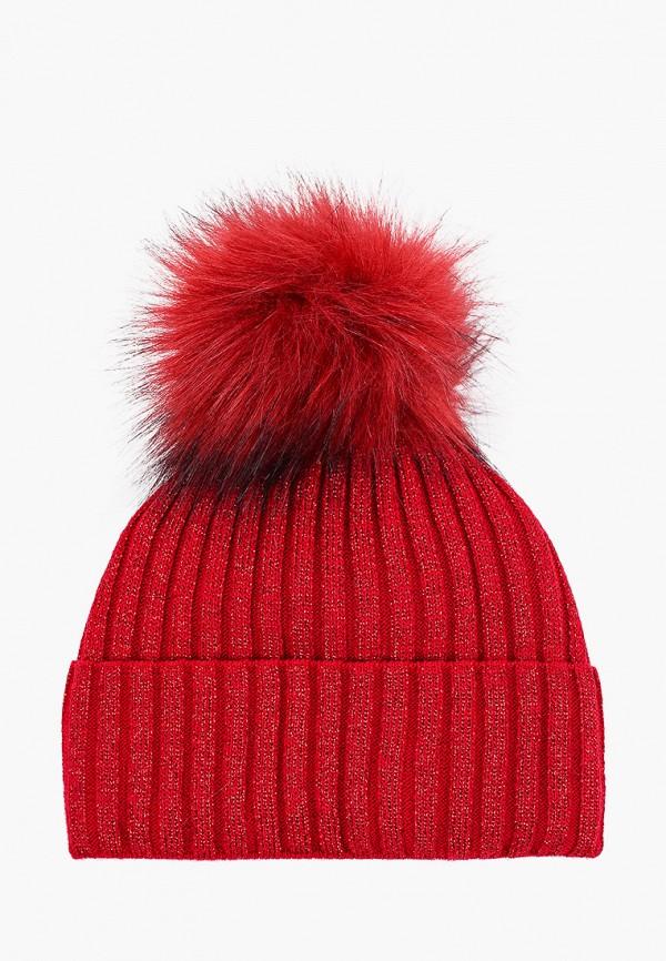 шапка coccodrillo для девочки, красная