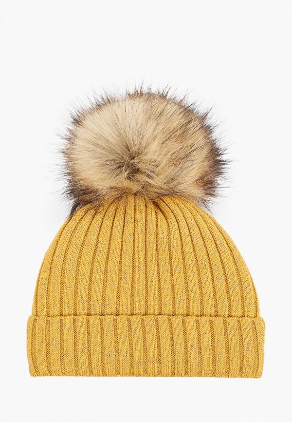 шапка coccodrillo для девочки, желтая
